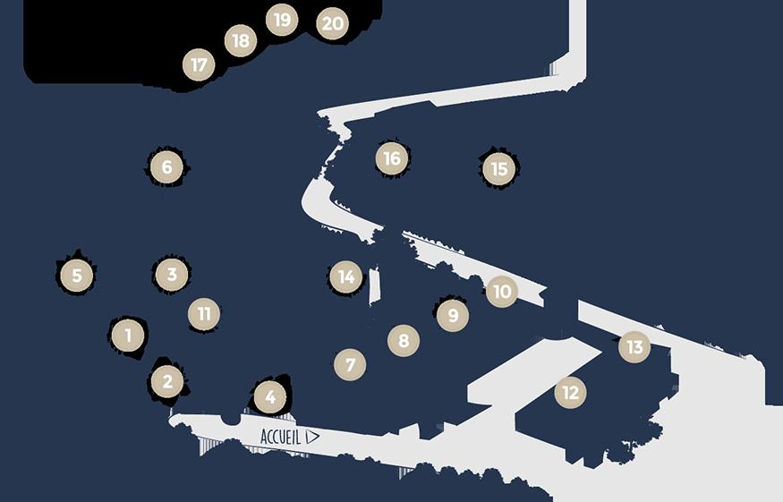 Plan intéractif des gîtes - Château de Chaussy
