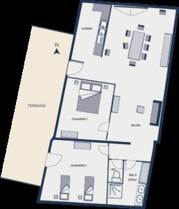 plan gîte 20 - Chateau de Chaussy