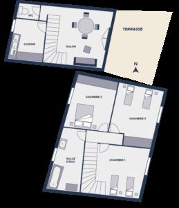 Plan gîte 18 - Chateau de Chaussy